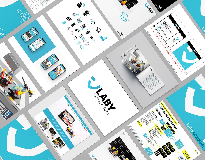 Laby – Rebranding: strategy, identity, web, offline+