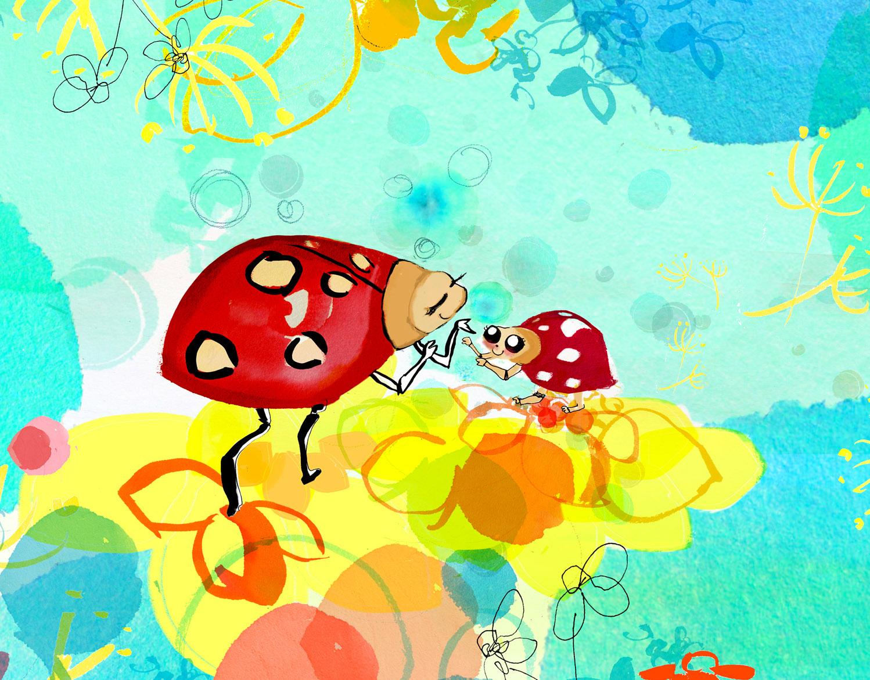 Illustrations for packaging of kids hand-soap dispenser