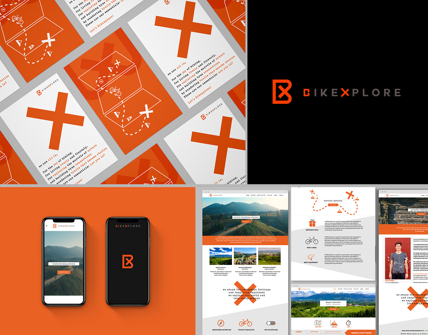 Bikexplore – branding: identity, strategy, artwork, web