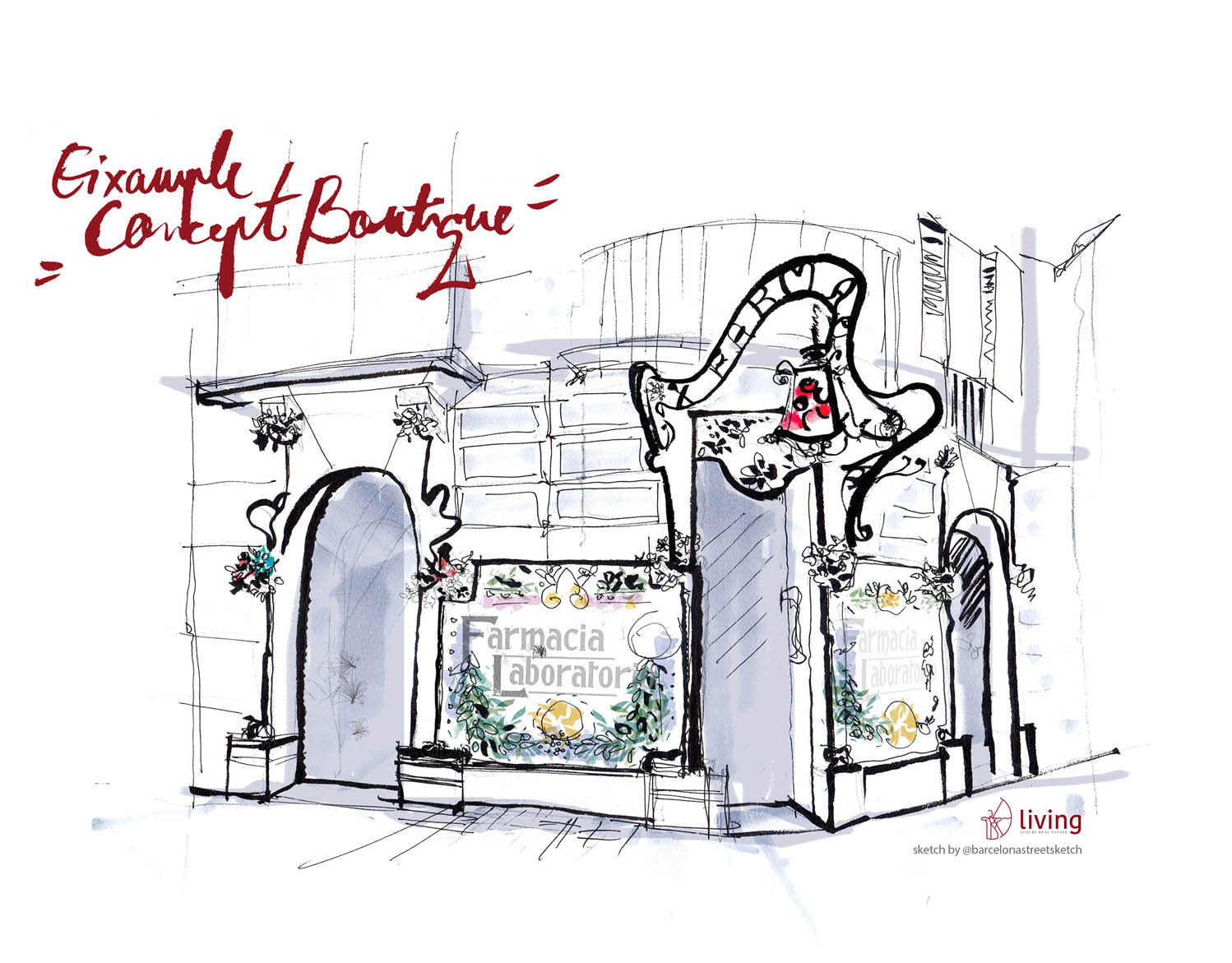 Illustration for Living Eixample Concept Boutique BCN